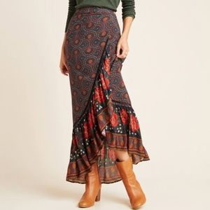 Anthropologie Farm Rio Cordoba Wrap Maxi Skirt NWT